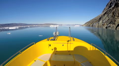 POV Time Lapse Boat Eco Tourism Greenland Remote Travel Iceberg Global Warming - stock footage