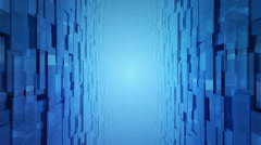 Between two glass walls Stock Footage