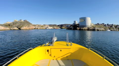Disko Bay POV Eco Tourism Boat Economy Glacial Drifting Frozen Mass - stock footage