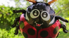 Lady bug air balloon Stock Footage