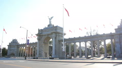 Exhibition Place Entrance Toronto 3 Stock Footage