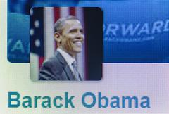 Social networking icon barack obama Stock Photos
