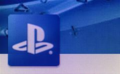 playstation icon on computer screen - stock photo