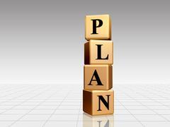 golden plan - stock illustration