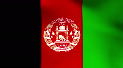 National flag of Afghanistan Stock Footage