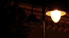 Flickering Street Lamp Stock Footage