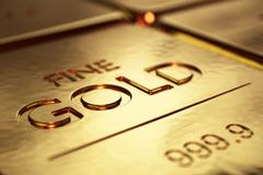gold bars close-up - stock illustration