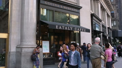 Eataly Restaurant New York City Manhattan 5th Ave NYC Crowded Stock Footage