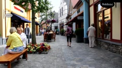 Outlet shopping complex in one of the small towns of the Netherlands Stock Footage