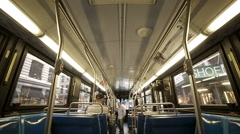 Back of Bus Bumpy Riding MTA NYC New York City Public Transportation Stock Footage