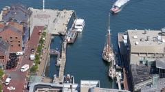 4K Boston Long Wharf Stock Footage