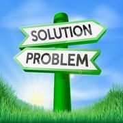 Stock Illustration of solution problem decision sign