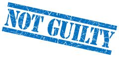 Not guilty blue grungy stamp on white background Stock Illustration