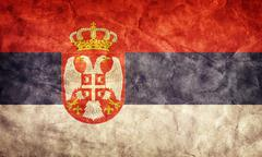 serbia grunge flag. vintage, retro style. high resolution, hd quality. item f - stock illustration