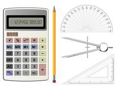 geometry equipment - stock illustration