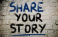 Share your story concept Stock Illustration