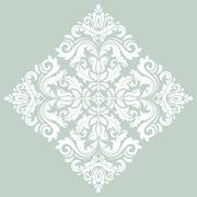 Orient  ornamental round lace Stock Illustration