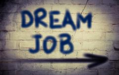 dream job concept - stock illustration