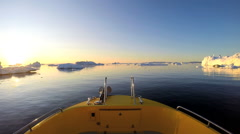 POV Boat Eco Tourism Greenland Travel Iceberg Global Warming Remote Environment Stock Footage