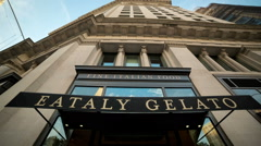 Eataly Gelato Restaurant New York City Manhattan 5th Ave NYC - stock footage