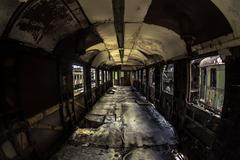 Industrial carriage interior Stock Photos