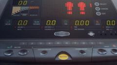 Digital information panel of futuristic device - stock footage