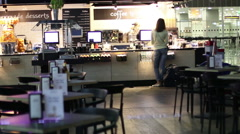 Cafe At The Airport 2 Stock Footage