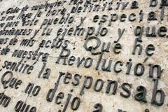 Stock Photo of memorial to che guevara