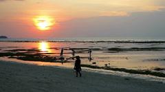 Peaceful sunset on Gili Air island, Indonesia Stock Footage