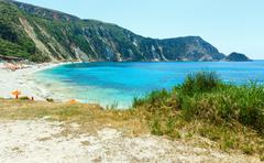 Petani beach (kefalonia, greece) Stock Photos