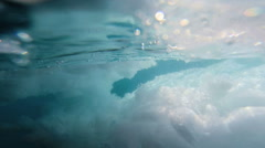 Blue Water Environment Climate Change Polar Ice Thawing Warming Temperature Stock Footage
