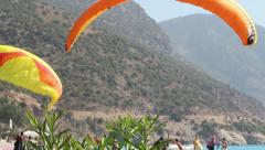 Paragliding In Turkey 11 Stock Footage