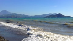 The Beach in Turkey Mountains 4 Stock Footage