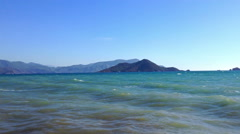 The Sea In Turkey Mountains 4 Stock Footage