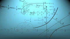 Blue Mathematical background Stock Footage