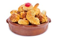 Stock Photo of panellets, typical pastries of catalonia, spain, eaten in all saints day