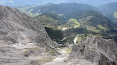 View down from Dachstein mountain Stock Footage