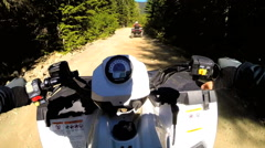 POV Time lapse ATV driving Off road Quad bike sport activity Canada Stock Footage