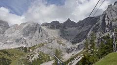 Dachstein mountain peak panorama Stock Footage