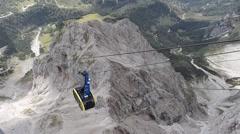 Mountain gondola (on Dachstein) Stock Footage