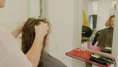 Hairdresser Woman Head Massage Stock Footage