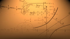 Orange Mathematical background. - stock footage