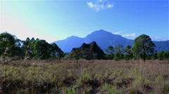 View over mount Agung from the base of mount Batur, Bali Stock Footage