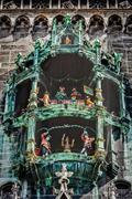 Animated figurines of Rathaus-Glockenspiel Stock Photos