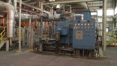 Machinery Inside Power Plant Stock Footage
