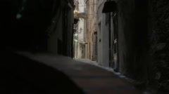 Narrow Street in La Pigna San Remo - 25FPS PAL Stock Footage