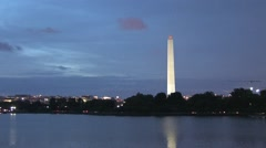 Washington Memorial in Washington D.C. Stock Footage