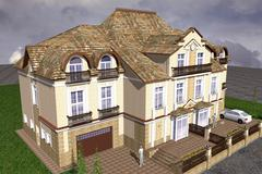Mansion classic style Stock Illustration
