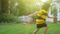 4k Bumble bee Boy running Stock Footage
