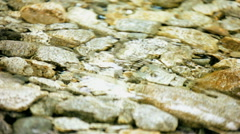Clear mountain stream water stone Spa texture freshness Stock Footage